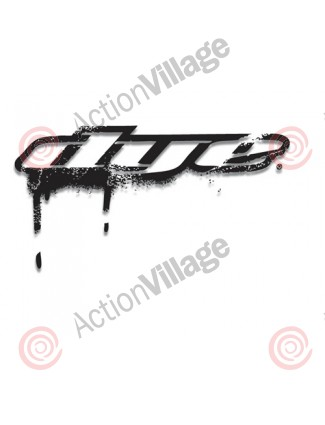 "Dye Paintball Sticker Drip 8"" - Black"