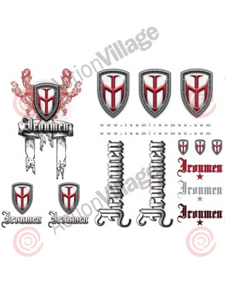 Dye Ironmen Large Sticker Sheet - 16 Stickers