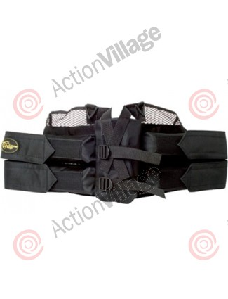 Extreme Rage Deluxe 4+1 Paintball Harness - Black