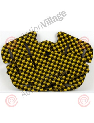 Stinger Paintball Designs Custom Soft Ears - Carbon Fiber - Gold