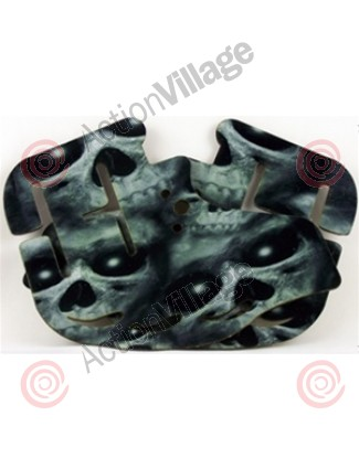 Stinger Paintball Designs Custom Soft Ears - Graveyard Skulls - Grey