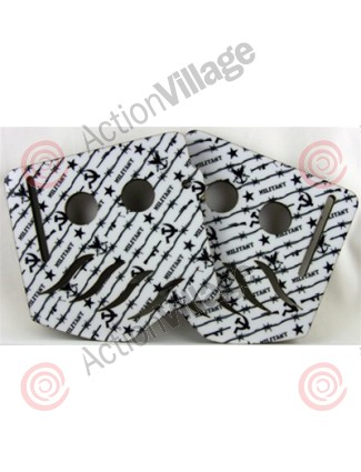 Stinger Paintball Designs Custom Soft Ears - Militant - Black/White
