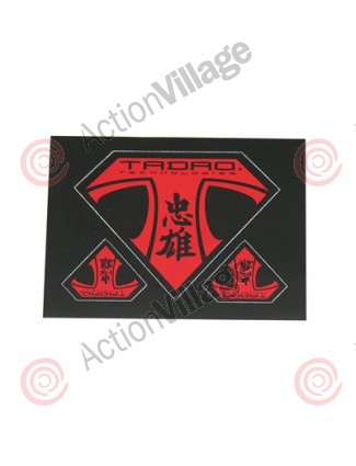 Tadao Sticker Sheet Black/Red