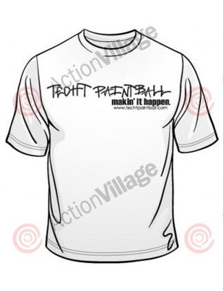 TechT Paintball Graffiti T-Shirt - White