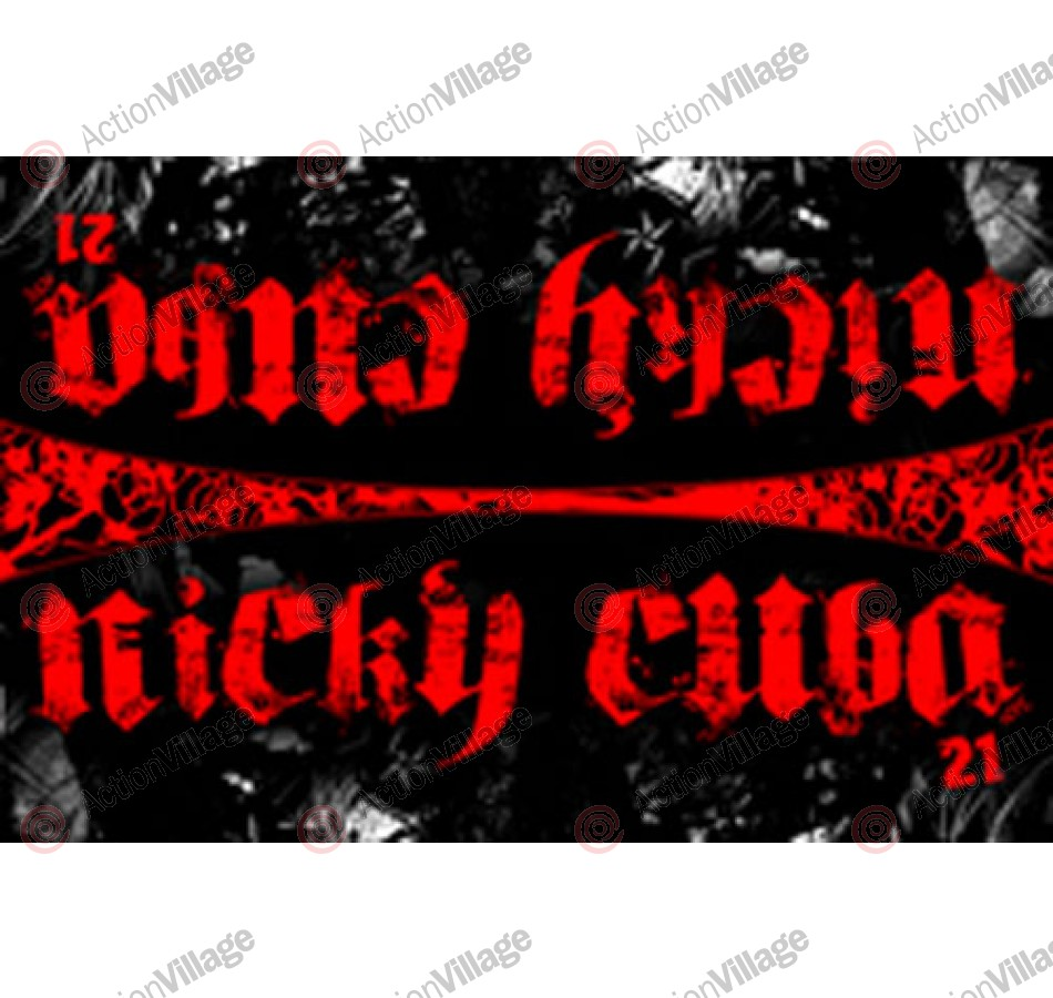 Hater Gun Graffiti - Nicky Cuba Gothic Red