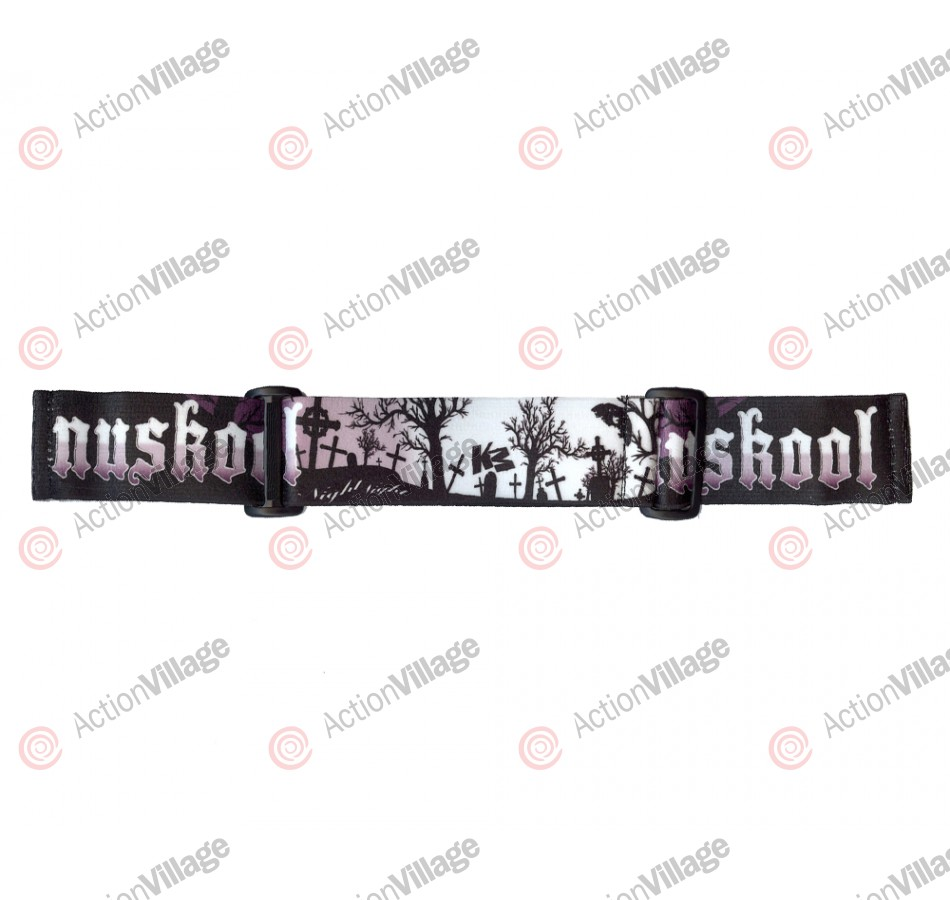 KM Paintball Goggle Strap - 09 Nicky Cubas Grey Graveyard