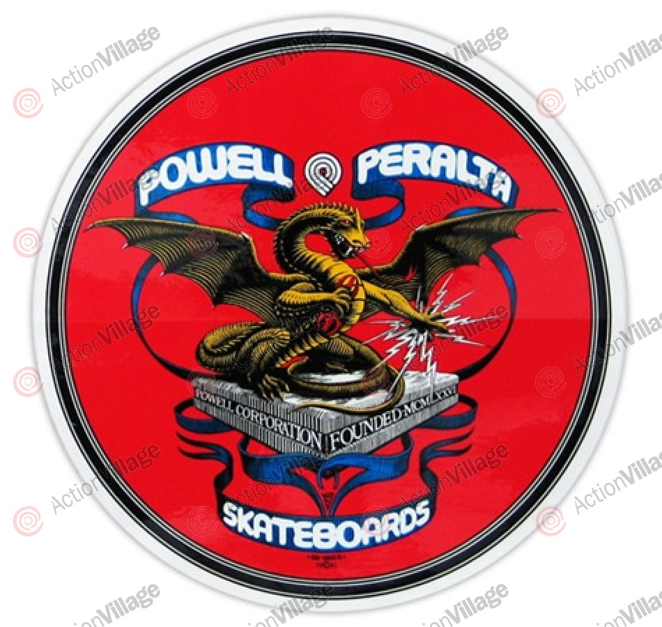 Powell Peralta Banner Dragon Reissue Sticker - Red - 4in - Sticker