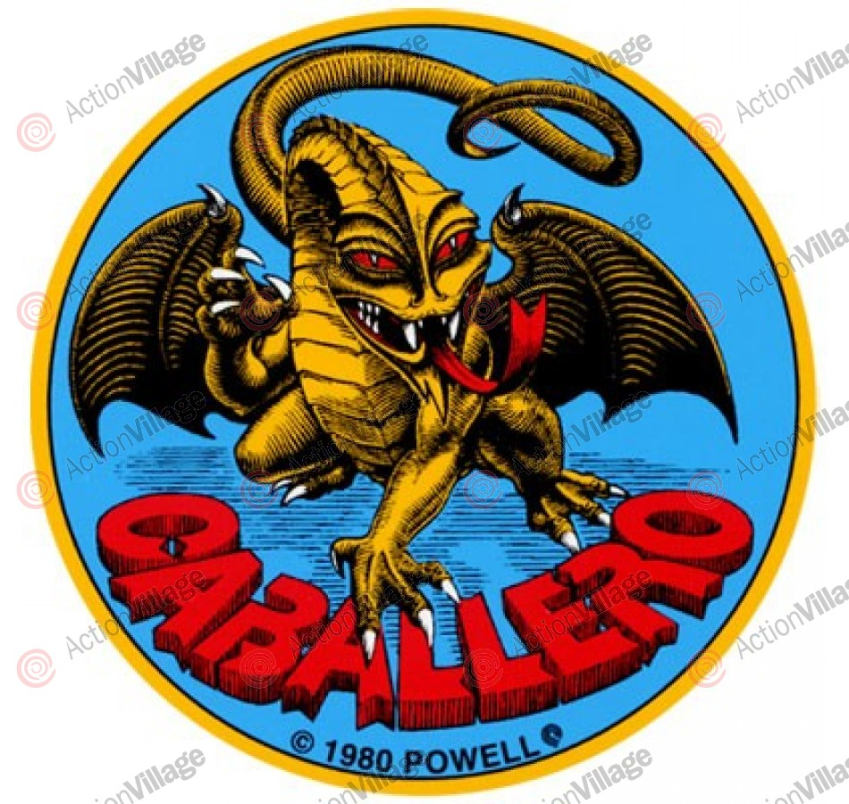 Powell Peralta Cab Original Dragon Sticker - Blue/Yellow - 3.5in - Sticker