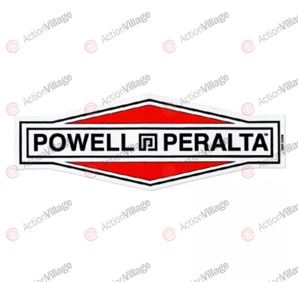 Powell Peralta Diamond Logo Sticker - White/Red/Black - Sticker