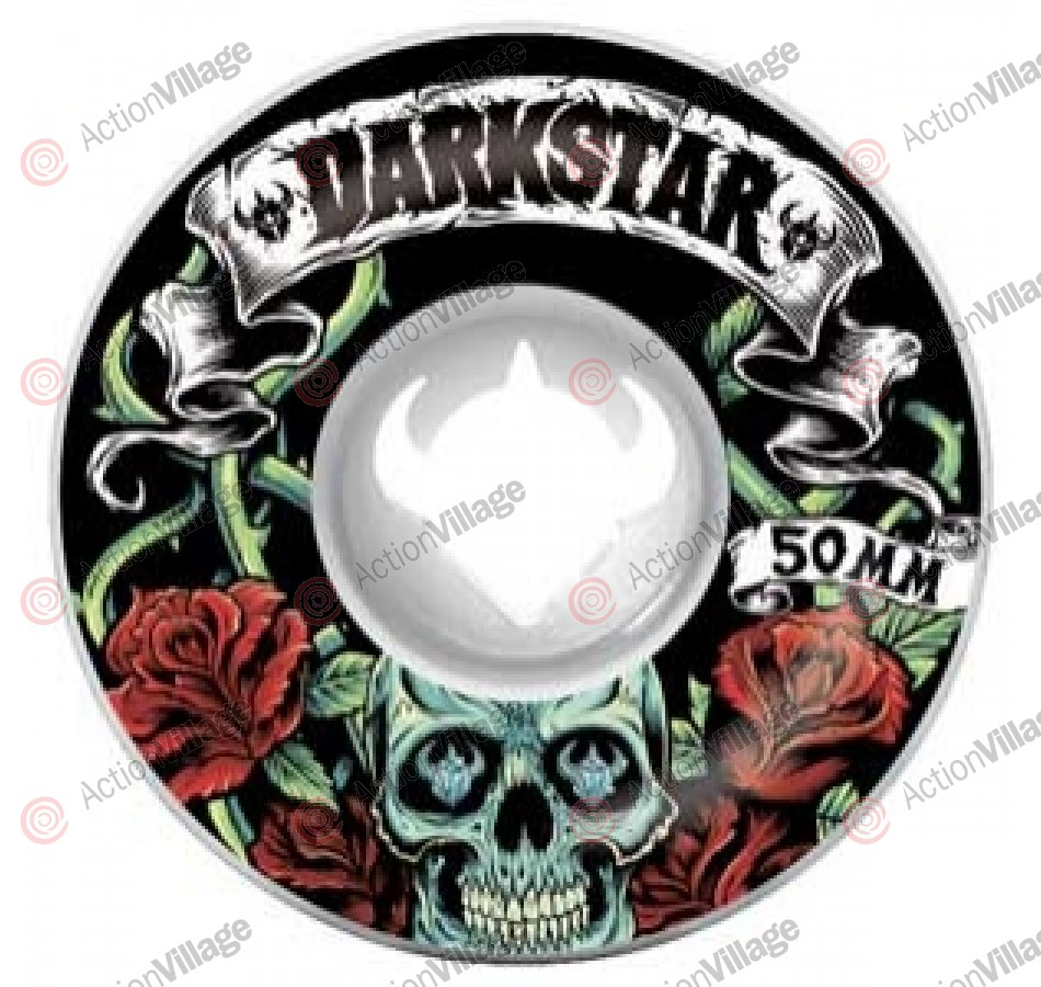 Darkstar Skull Roses Street Formula - White - 50mm - Skateboard Wheels