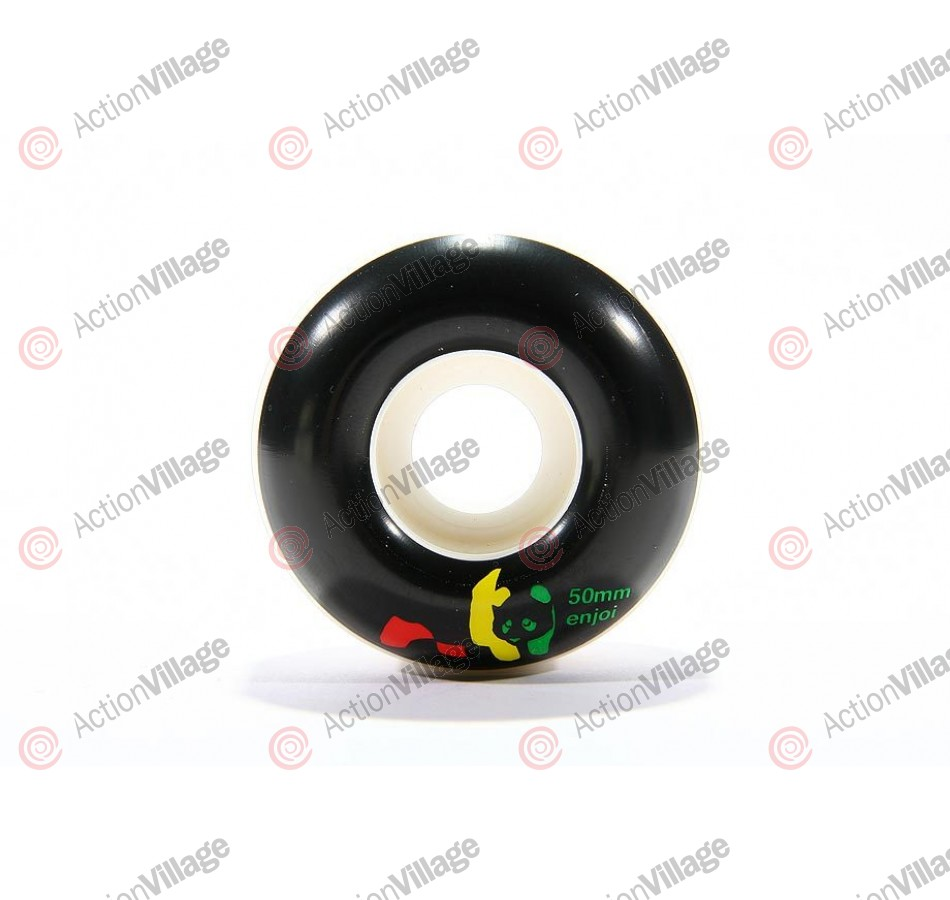 Enjoi Rasta Panda Wheel - Black - 50mm - Skateboard Wheels