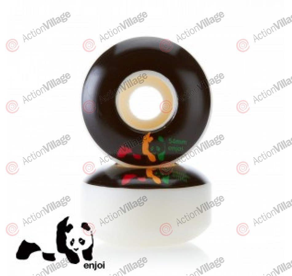 Enjoi Rasta Panda Wheel - Black - 54mm - Skateboard Wheels