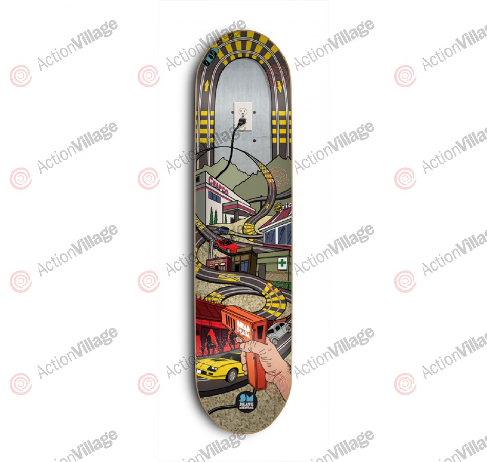 Skate Mental Slot Car - Brad Staba - 8.0 in. x 31.5 in. - Skateboard Deck
