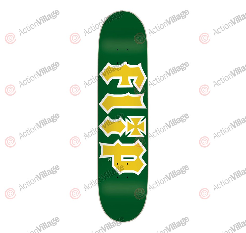 Flip Team HKD Medium - 32.0in x 8.1in - Green/Yellow - Skateboard Deck