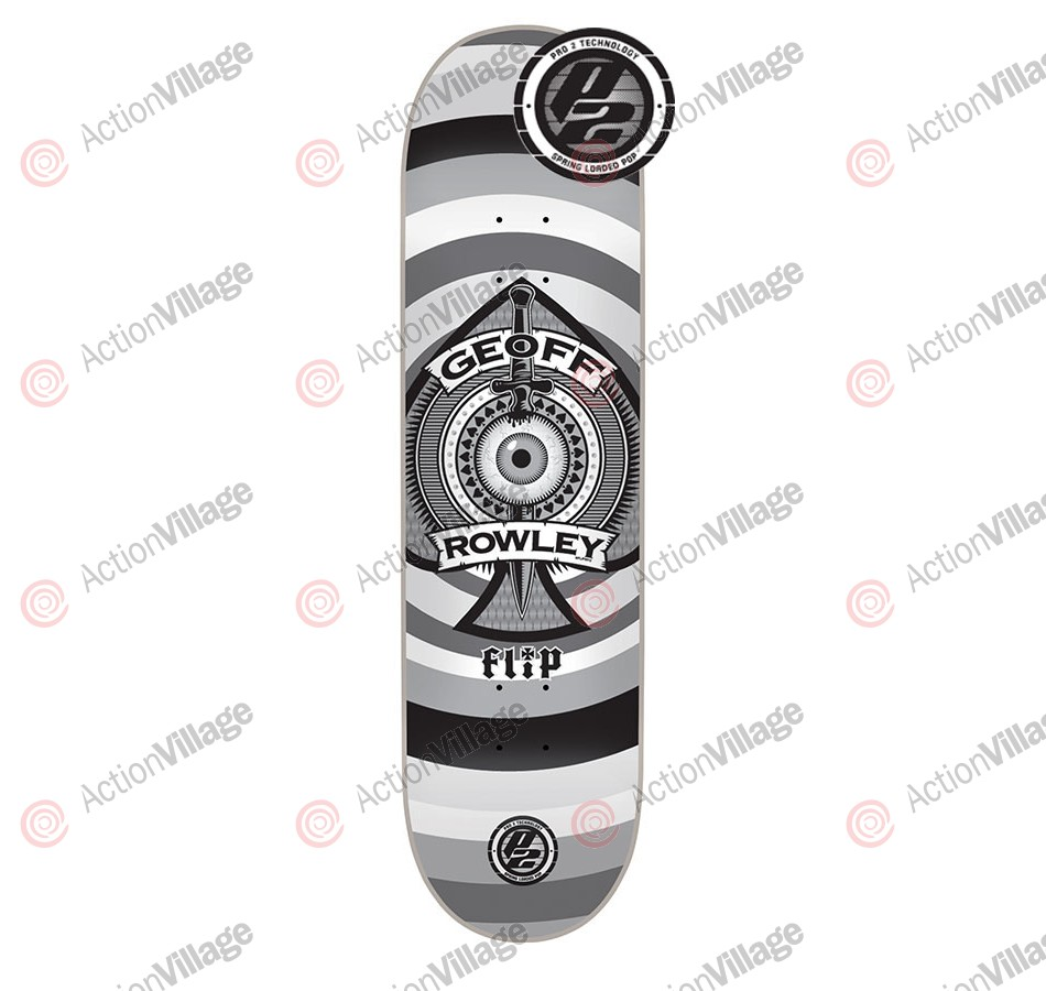 Flip Rowley Ace P2 - 32.0in x 8.13in - Grey - Skateboard Deck