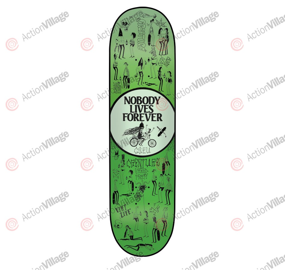 Creature Team Shred Party Powerply - 32.35in x 8.6in - Green - Skateboard Deck