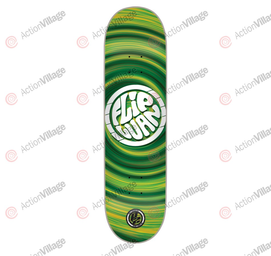 Flip Oliveira HipNotic P2 - 32.2in x 8.0in - Green - Skateboard Deck