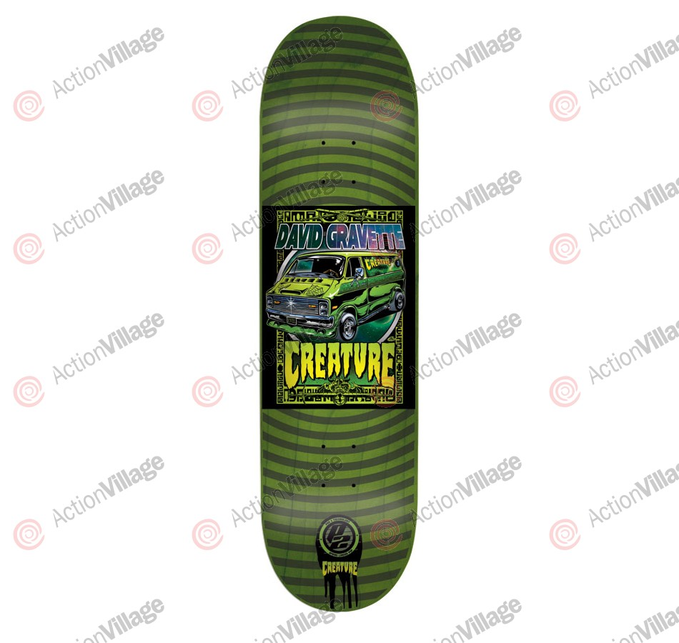 Creature Gravette Poster P2 - 31.6in x 8.0in - Green - Skateboard Deck