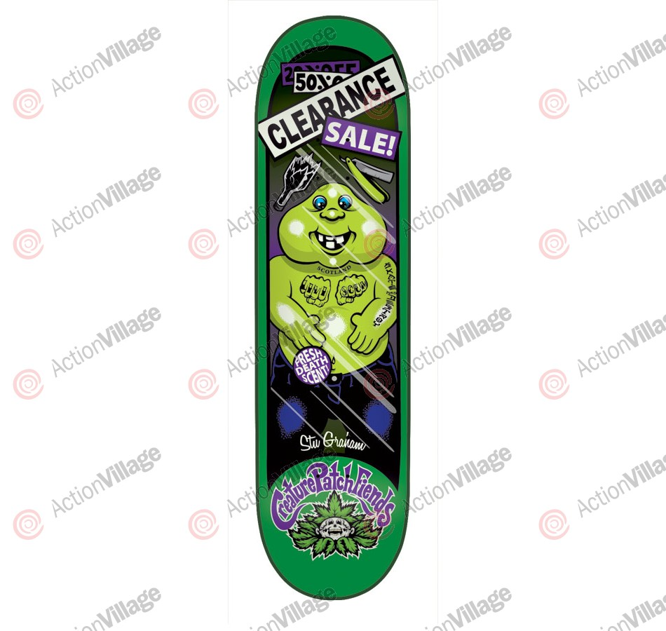 Creature Graham Creature Patch - 33.0in x 9.0in - Green - Skateboard Deck