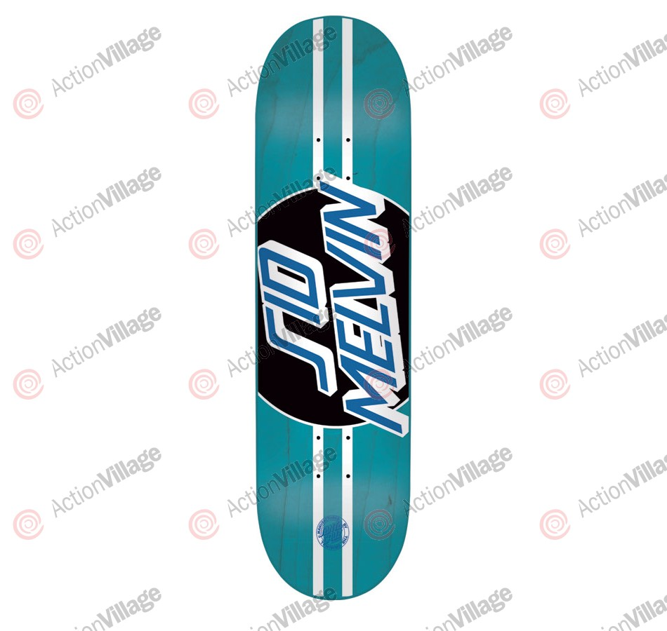 Santa Cruz Melvin Pro Dot Powerply - 31.7in x 8.125in - Blue - Skateboard Deck