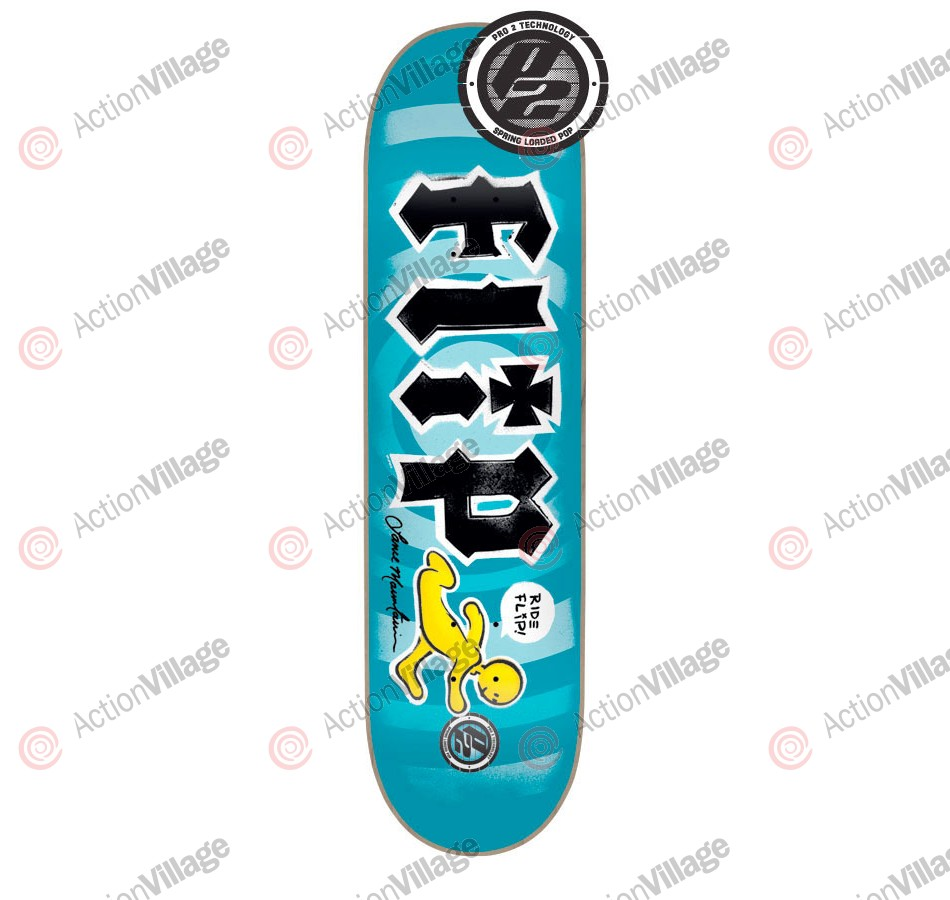 Flip Mountain Doughboy Reissue P2 - 32.31in x 8.25in - Blue - Skateboard Deck