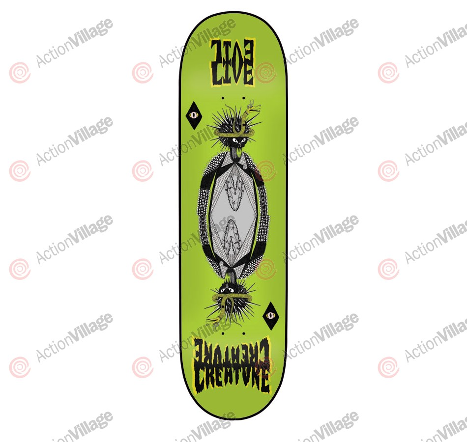 Creature Evilive MD Powerply - 31.8in x 8.2in - Green - Skateboard Deck