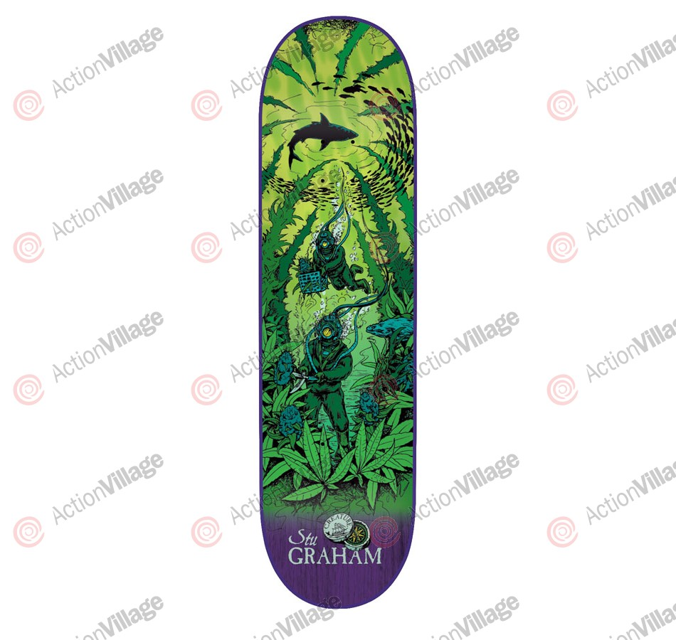 Creature Graham Cove Powerply - 33in x 9in - Green - Skateboard Deck