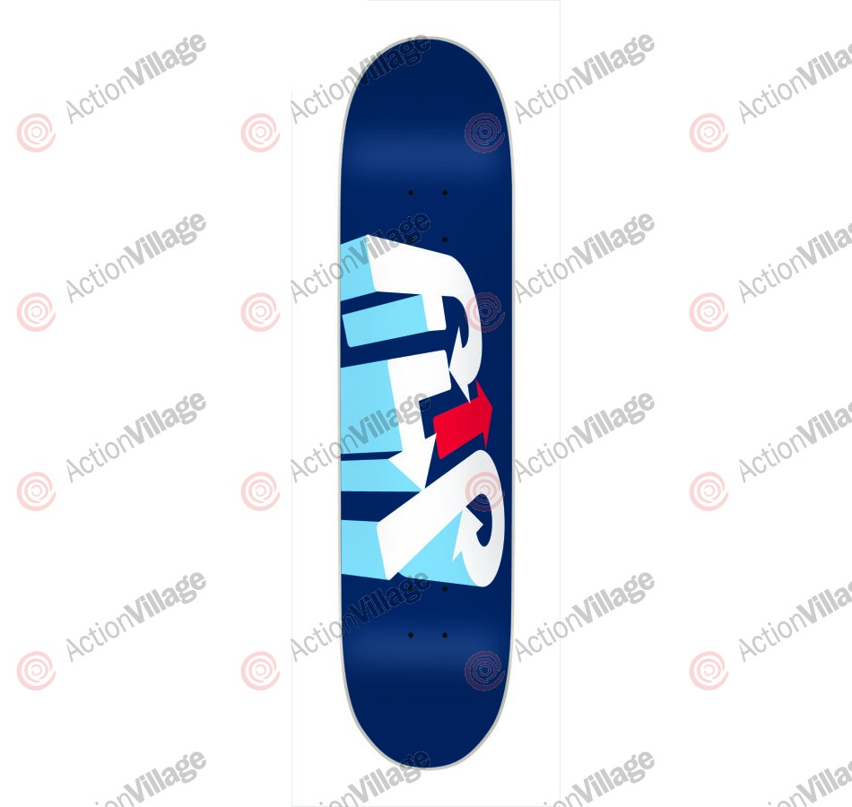 Flip Team 3D - 32.2in x 8.0in - Blue - Skateboard Deck