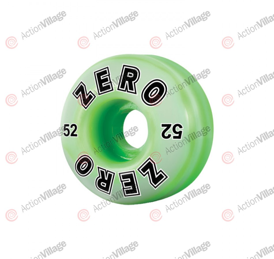 Zero Bold Swirl (Set of 4) - 52mm - Green - Skateboard Wheels