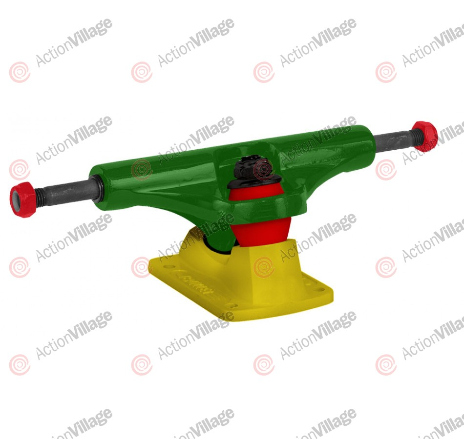 Bullet 140mm Rasta Green Yellow Trucks - Skateboard Trucks