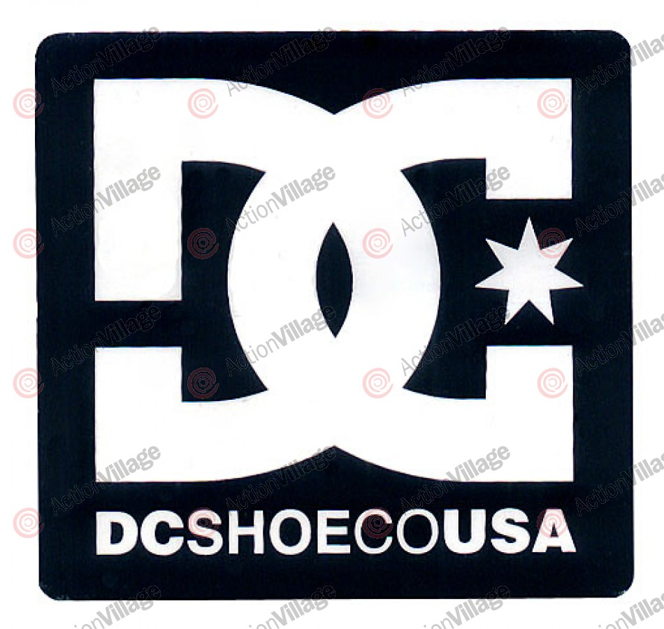 DC Star - 5 inch - Black - Sticker