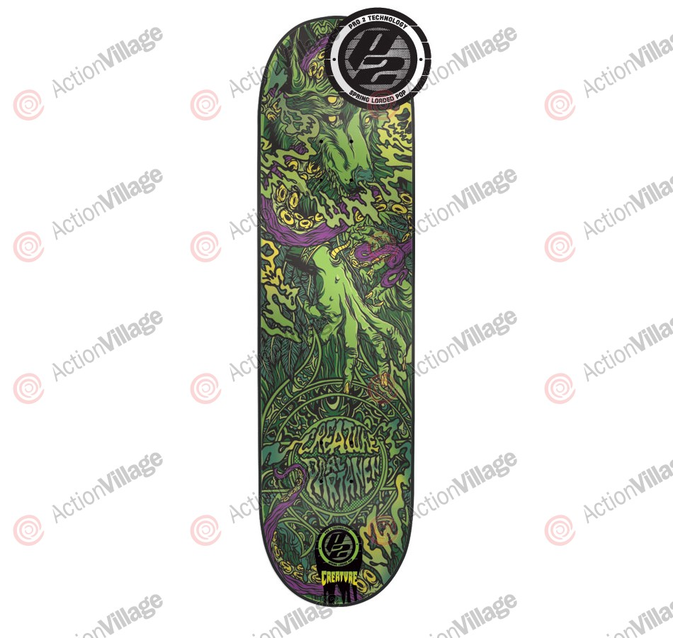 Creature Partanen Spirit Animal P2  - 31.9in x 8.1in - Skateboard Deck