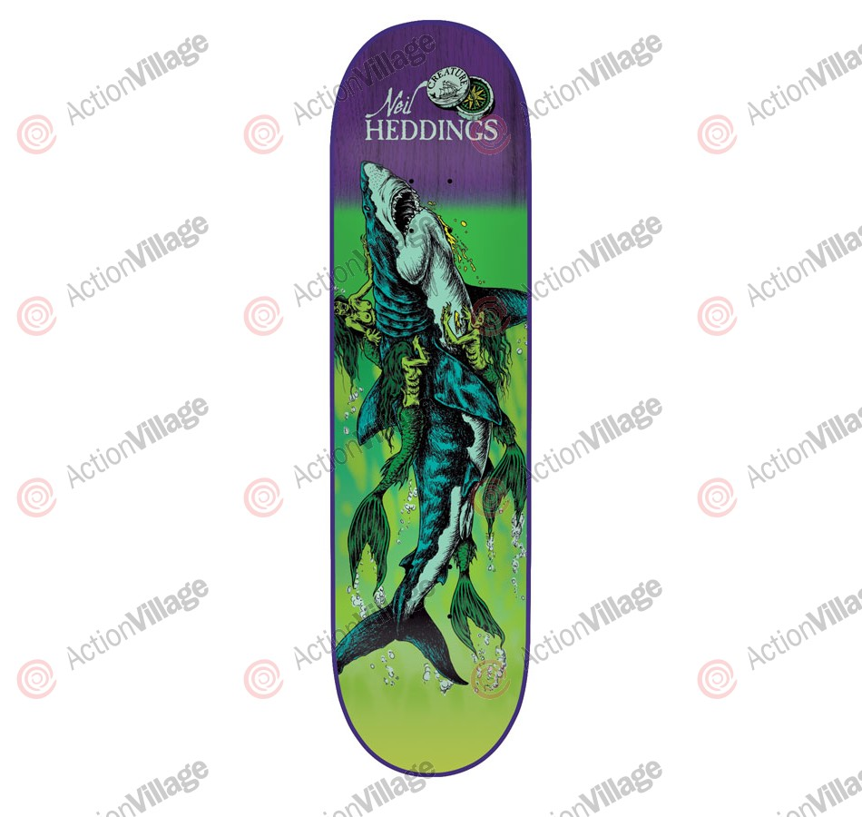 Creature Hedding Cove Powerply - 31.6in x 8in - Green - Skateboard Deck