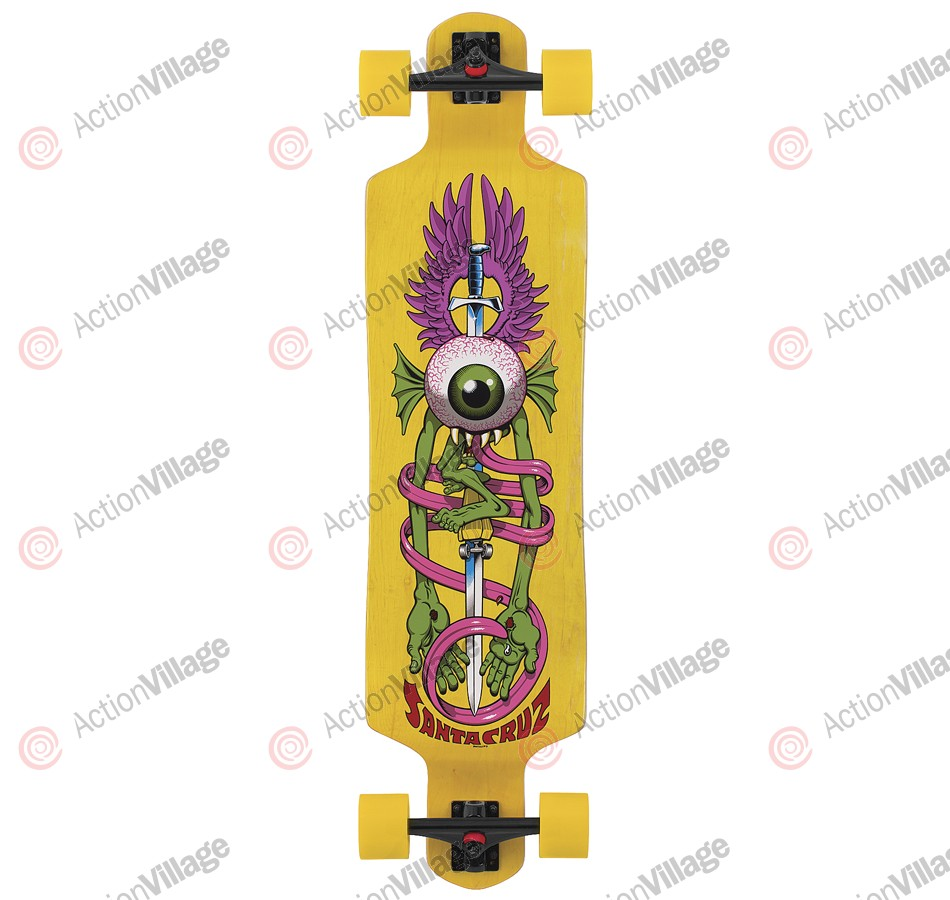 Santa Cruz Skate Flying Eye Drop Down Cruzer 10in x 40in - Complete Skateboard