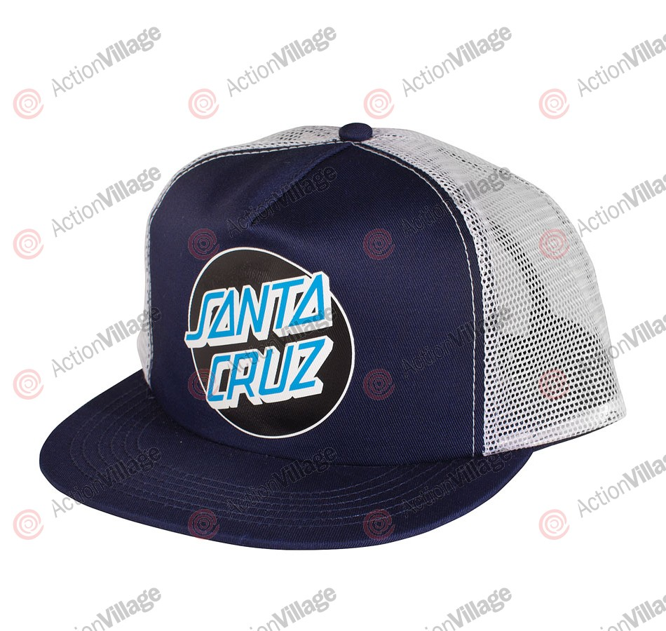 Santa Cruz Other Dot Trucker Mesh - One Size Fits All - Navy/White - Hat