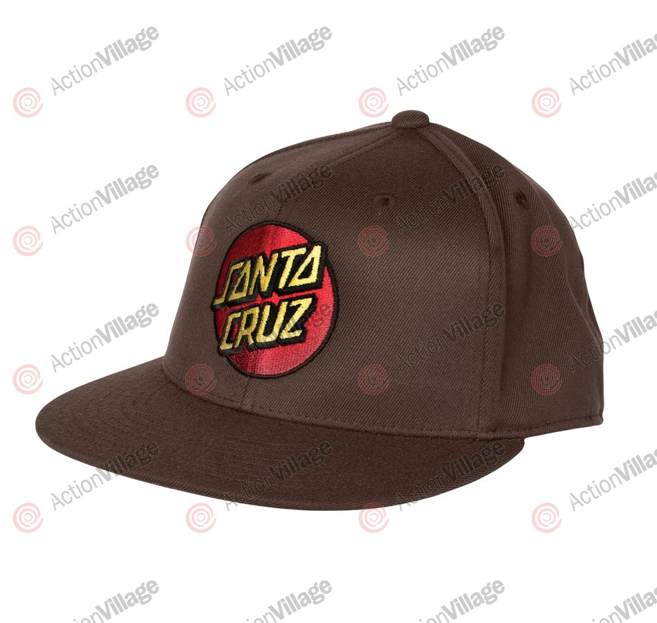 Santa Cruz Classic Dot Flexfit® Fitted Stretch Hat - Brown