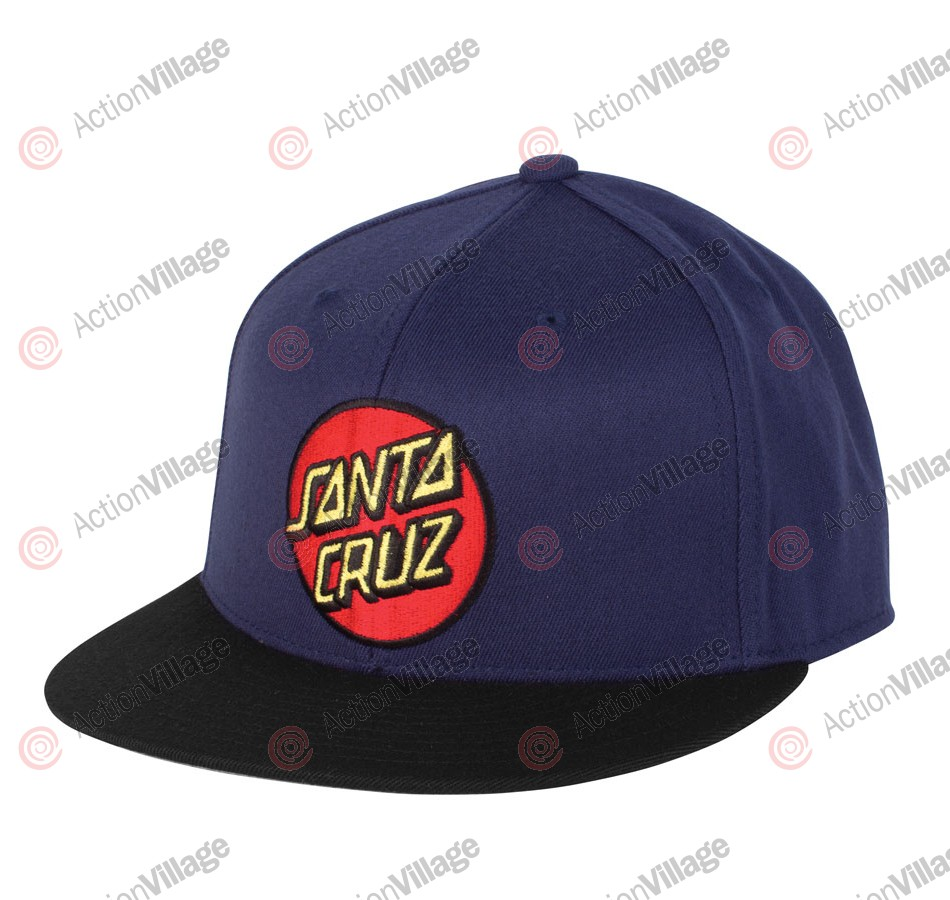 Santa Cruz Classic Dot Flexfit Fitted Stretch Hat - Black/Navy- Mens Hat