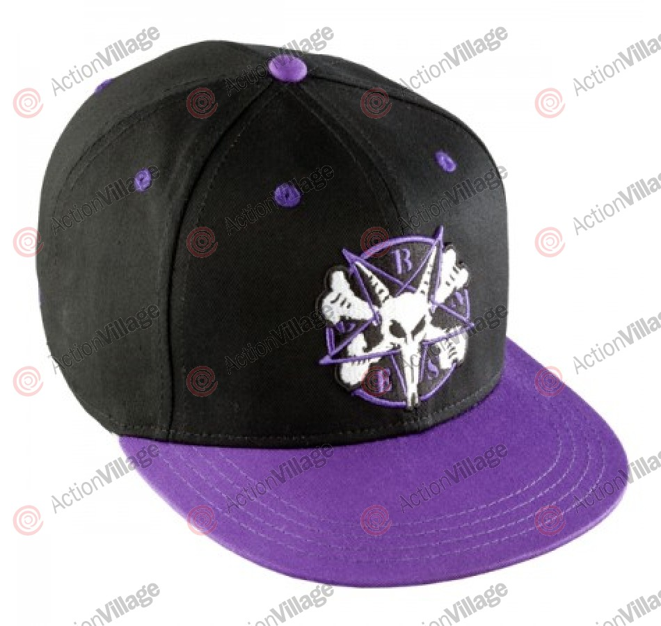 Bones Pentagram II OSFA - BlacK/Purple - Mens Hat