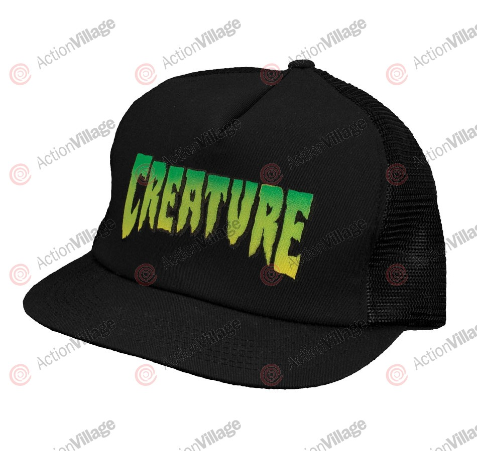 Creature Logo Trucker Mesh Hat - Black