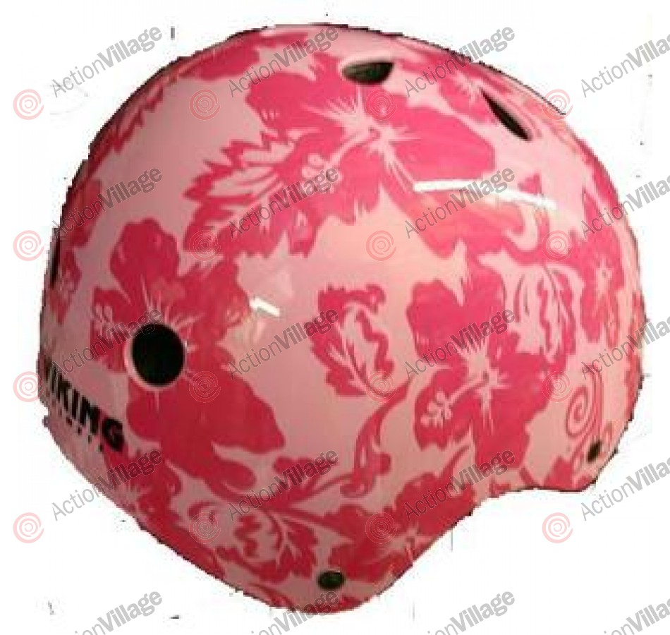 Viking - Pink Hawaiian Floral - Youth Helmet
