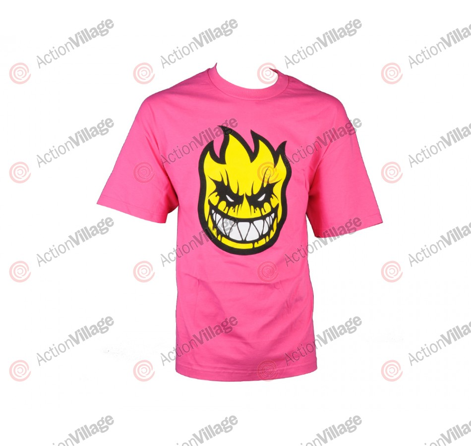 Spitfire S/S Death Mask - Hot Pink - Men's T-Shirt