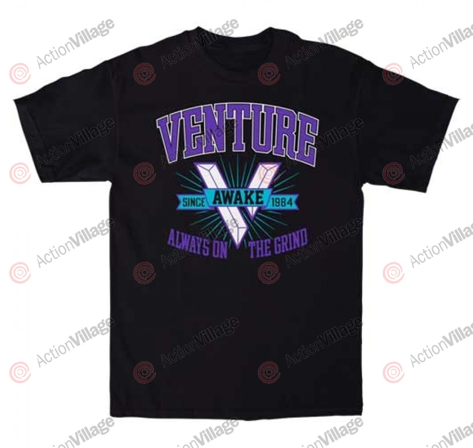 Venture Varsity S/S - Black - Men's T-Shirt