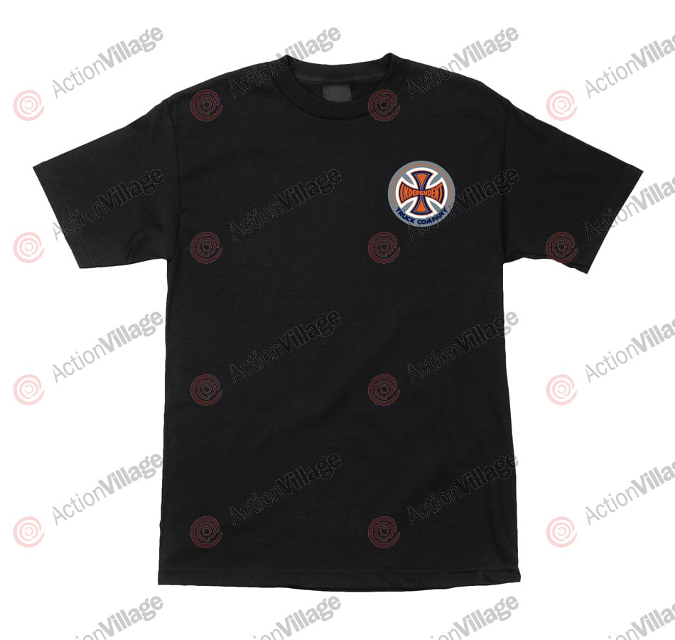 Independent 78 TC Chest Regular S/S - Black - Mens T-Shirt