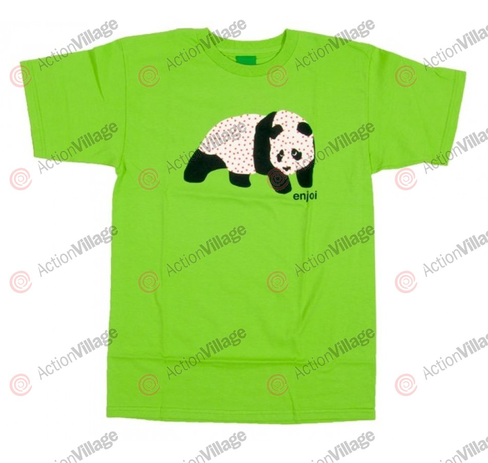 Enjoi Sick Panda Tee - Lime - Mens T-Shirt