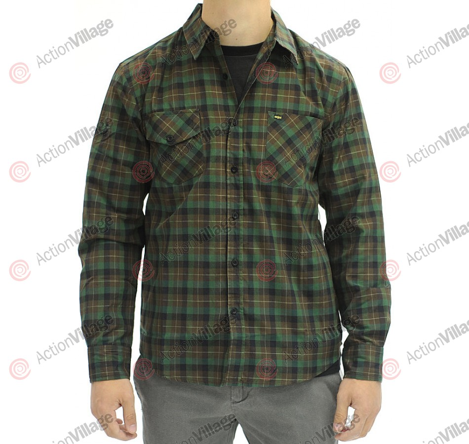 Enjoi All-In L/S Plaid - Poo - T-Shirt