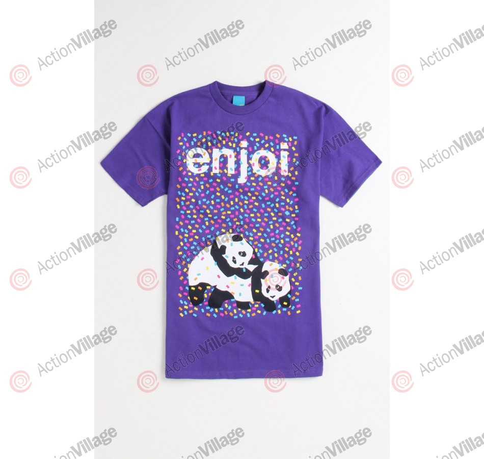 Enjoi Confetti S/S Tee - Purple - T-Shirt