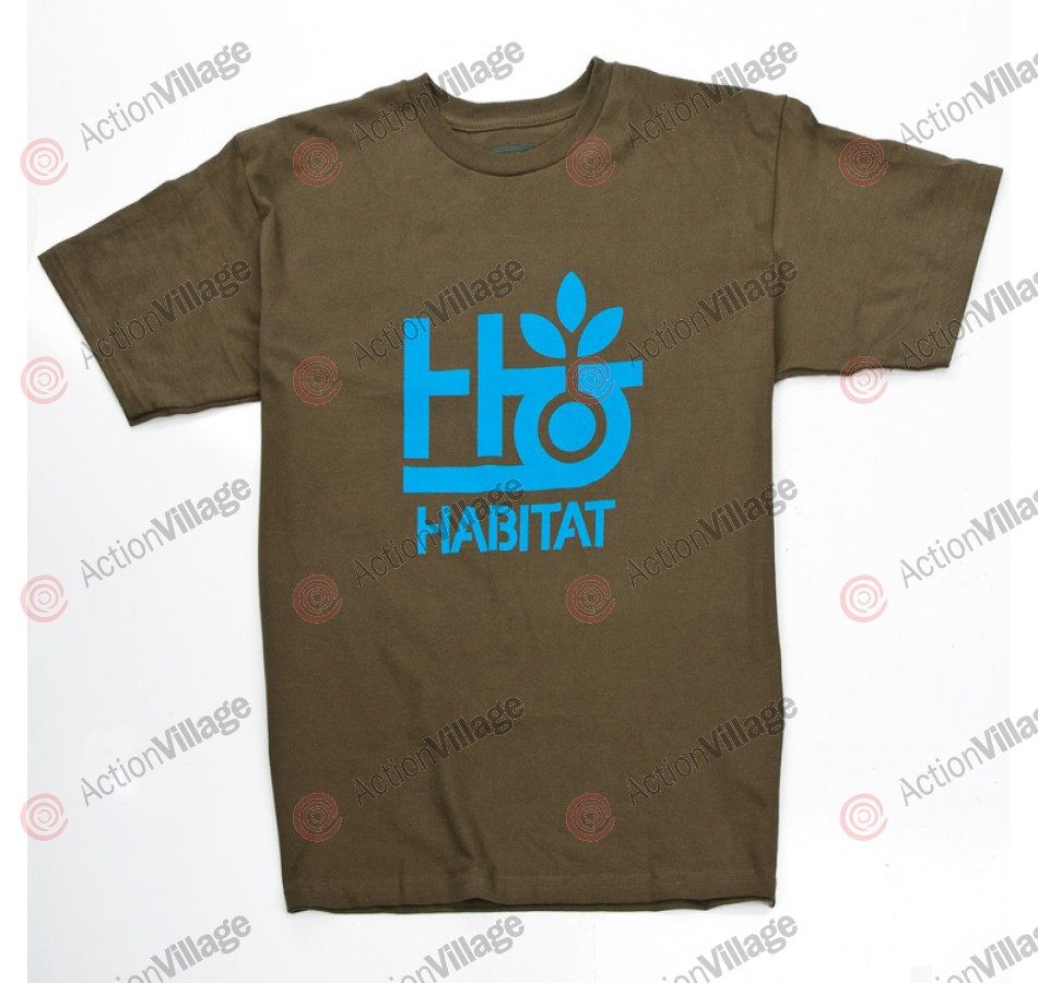 Habitat Pod Logo - Military Green - Men's T-Shirt - Small