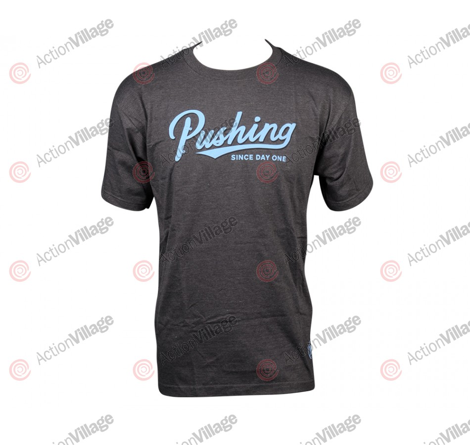 Real S/S Pushing Script Shirt - Charcoal Heather - T-Shirt