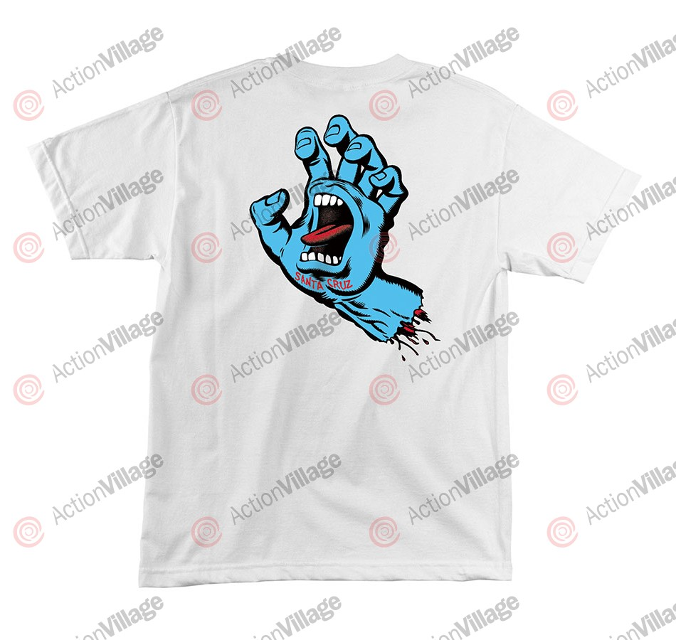 Santa Cruz Screaming Hand Regular S/S - White - Mens T-Shirt