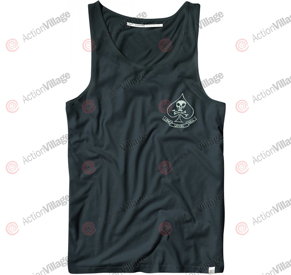 Globe Patches Tank Top - Marine Blue - T-Shirt